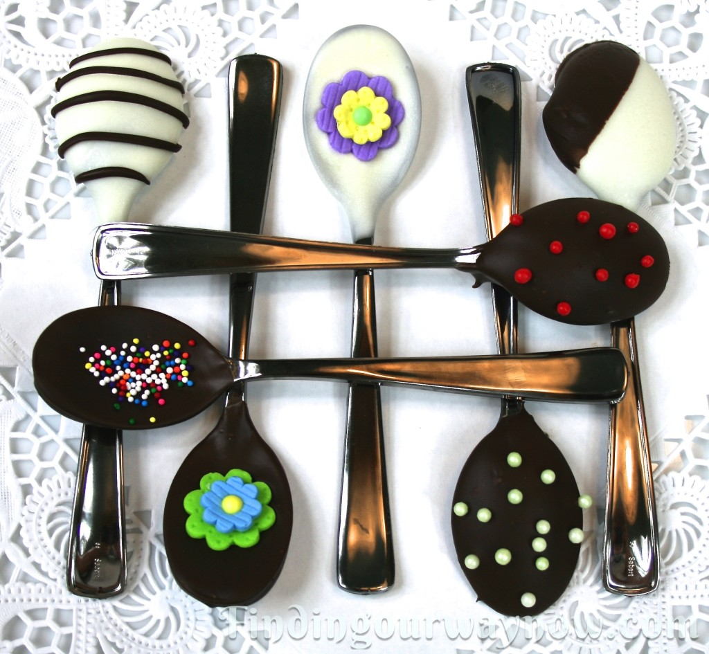 Chocolate Dipped Spoons, findingourwaynow.com