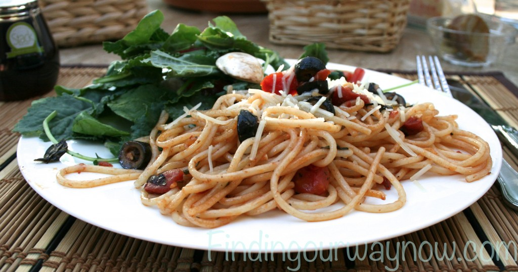 Light Easy Tomato Pasta, Finding Our Way Now