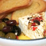 Warm Marinated Feta Cheese with Olives, Finding Our Way Now
