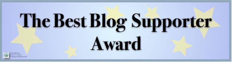 The Best Blog Supporter Award, findingourwaynow.com
