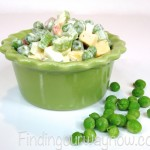 Pea and Cheese Salad, findingourwaynow.com