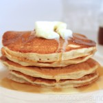 Homemade Buttermilk Pancakes, findingourwaynow.com