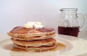 Homemade Buttermilk Pancakes, findingourwaynow.com
