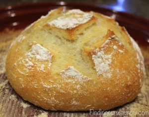 Homemade Rustic White Bread, findingourwaynow.com