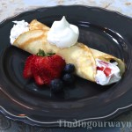 Homemade Crepes Strawberries & Cream, findingourwaynow.com