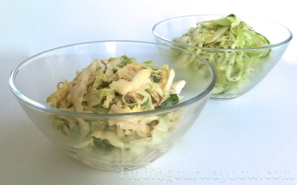 Coleslaw Recipe Two Ways, findingourwaynow.com