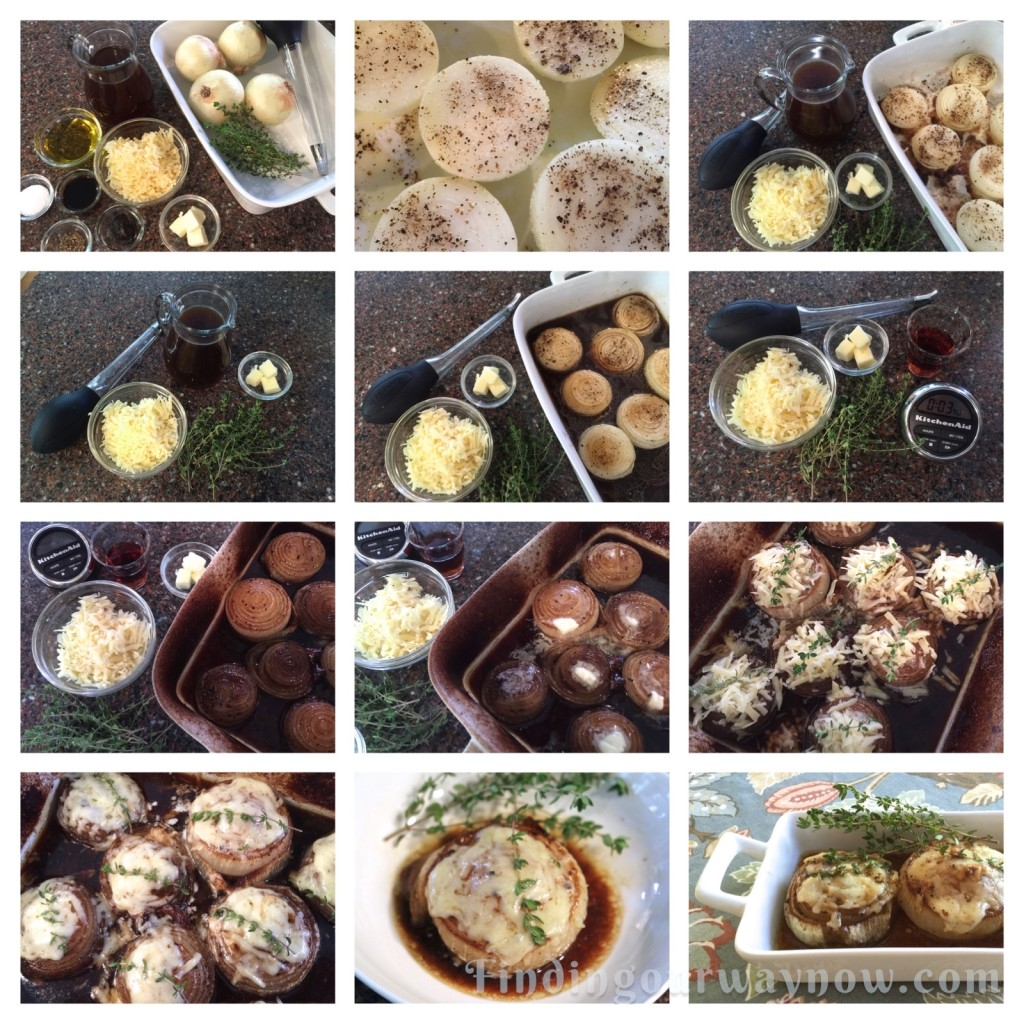 Baked Onions In Beef Broth With A touch of Sherry, findingourwaynow.com