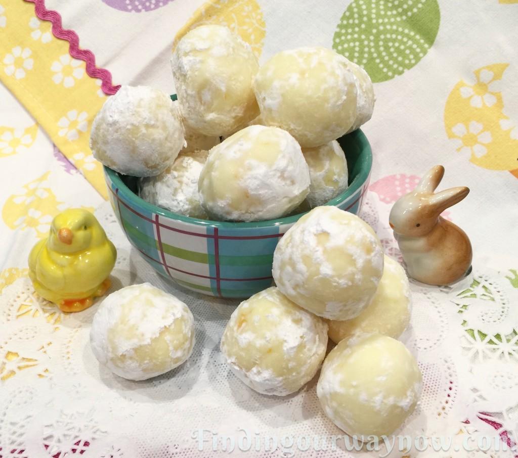Meyer Lemon Truffles, findingourwaynow.com