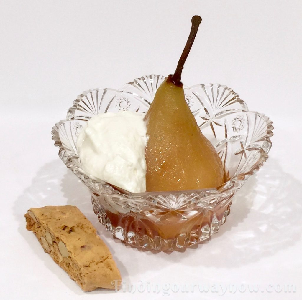 Slow-Cooker Honey White Wine Pears, findingourwaynow.com
