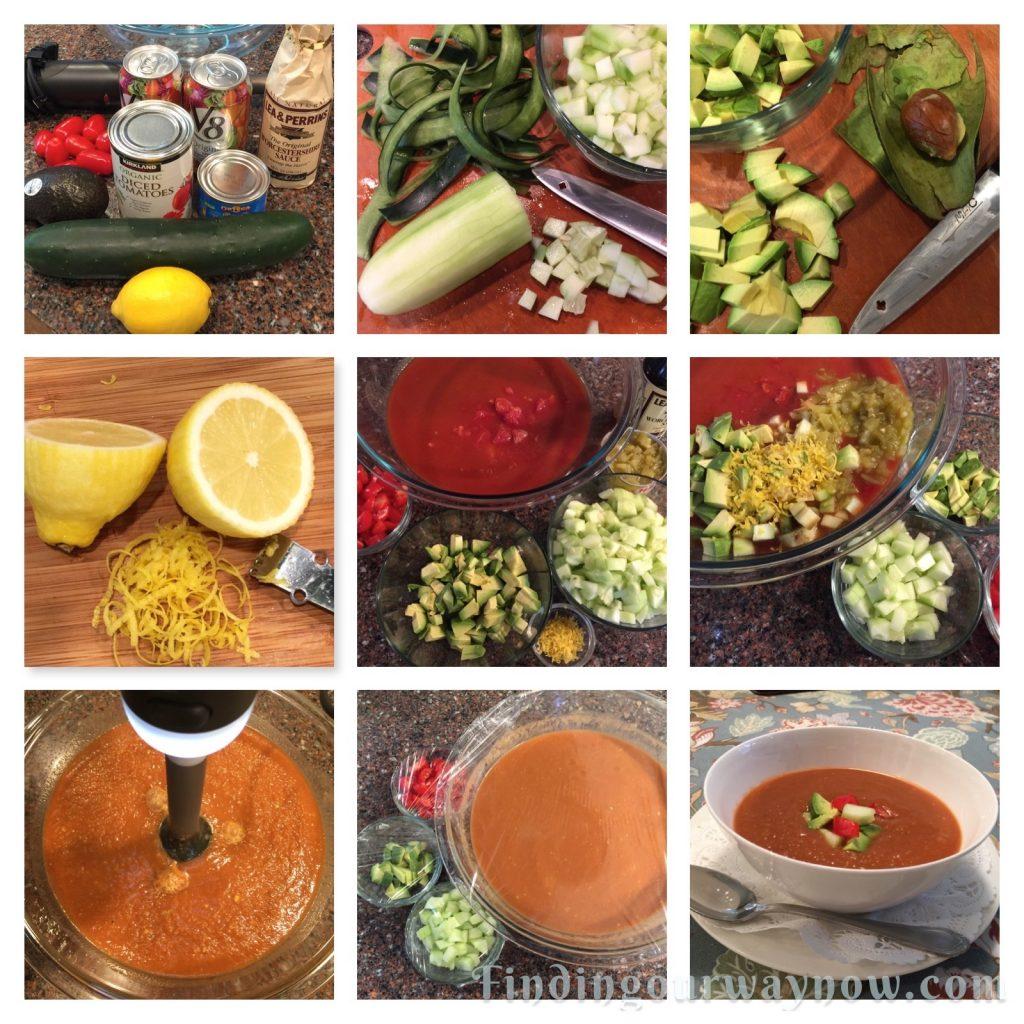 Rod's Easy Gazpacho Recipe, findingourwaynow.com