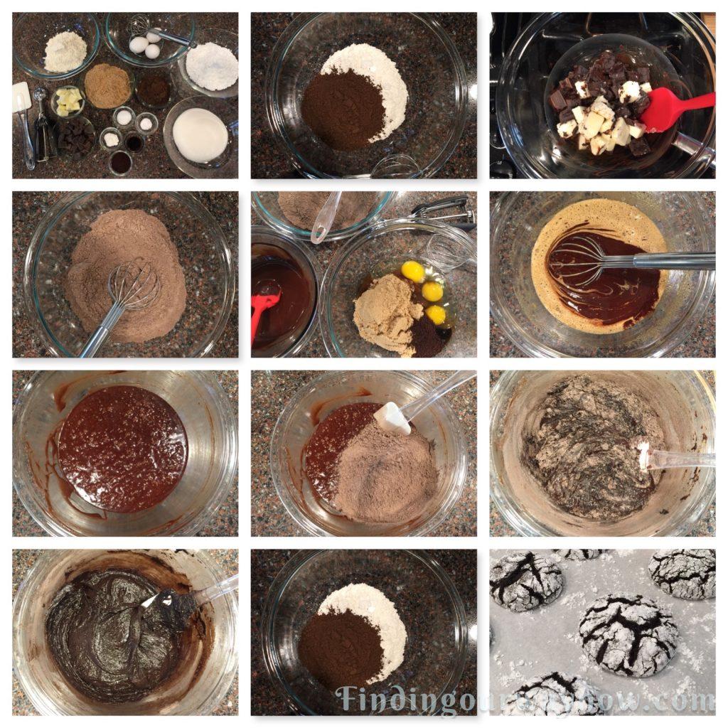 Chocolate Crinkle Cookies, findingourwaynow.com