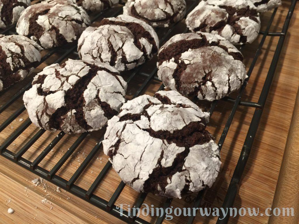 Cake Mix Chocolate Crinkle Cookies, findingourwaynow.com