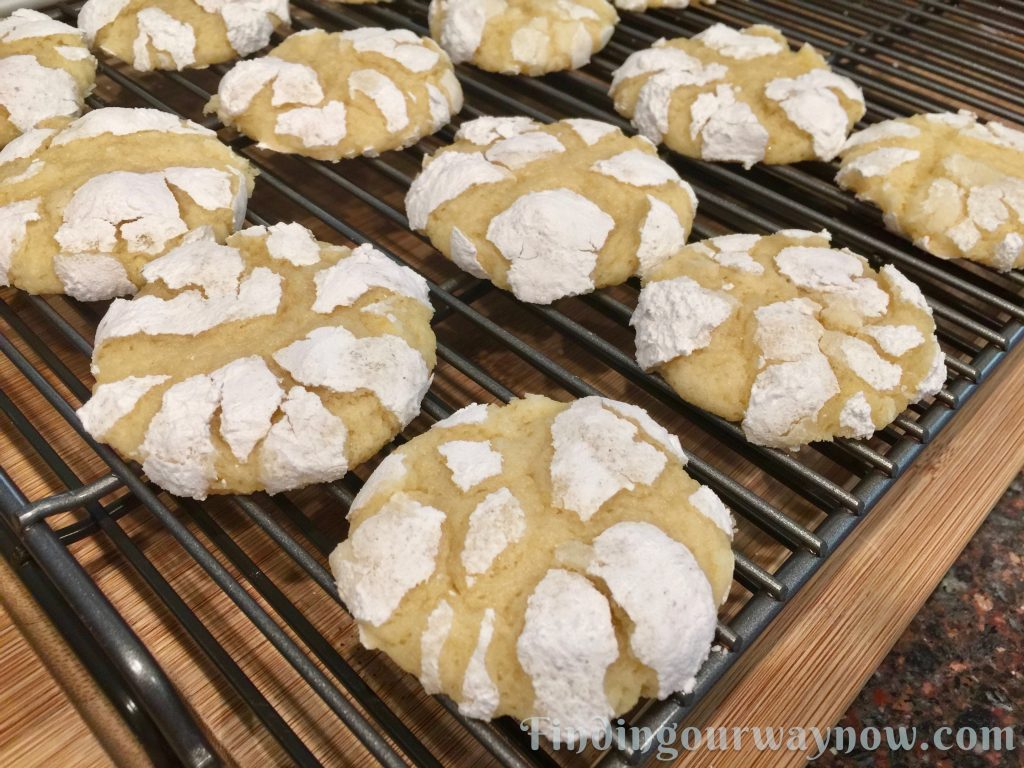 Homemade Lemon Crinkle Cookies, findingourwaynow.com